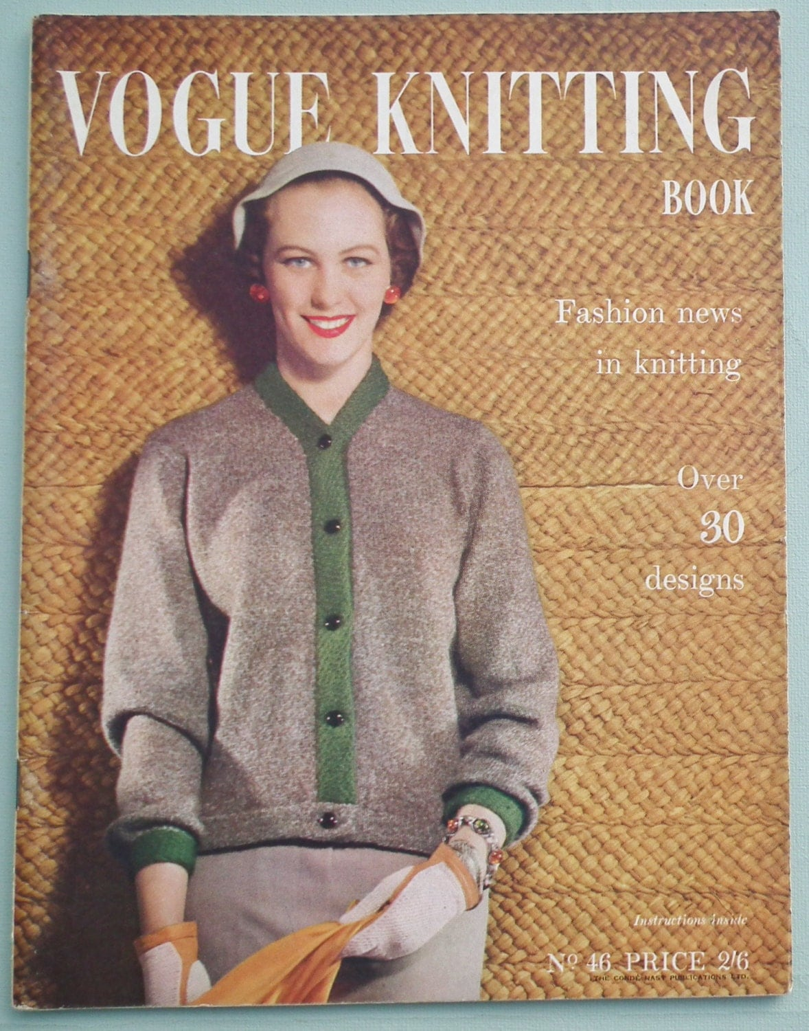 Vintage Vogue Knitting Pattern Books : Vogue Knitting Book No. 46 Vintage Knitting by sewmuchfrippery