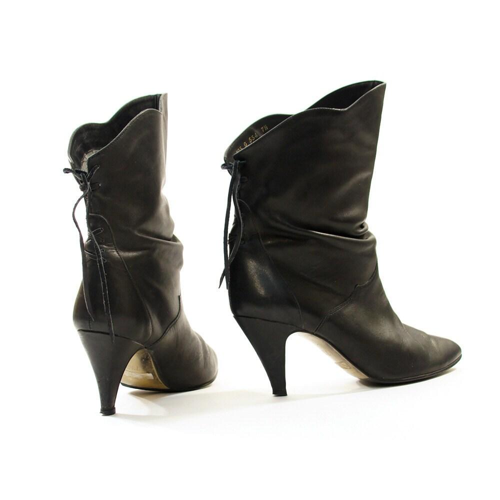 sz 7 5 corset pirate ankle boots vintage 80 s by spunkvintage