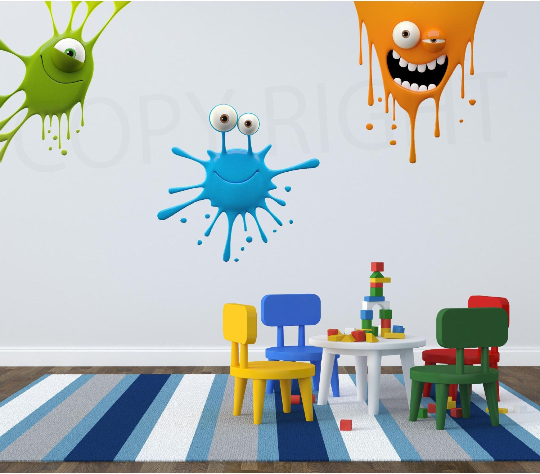 Paint Splatter Kids Fun Wall Art Sticker Decal Transfer Bedroom Playroom Nursery WAPP101