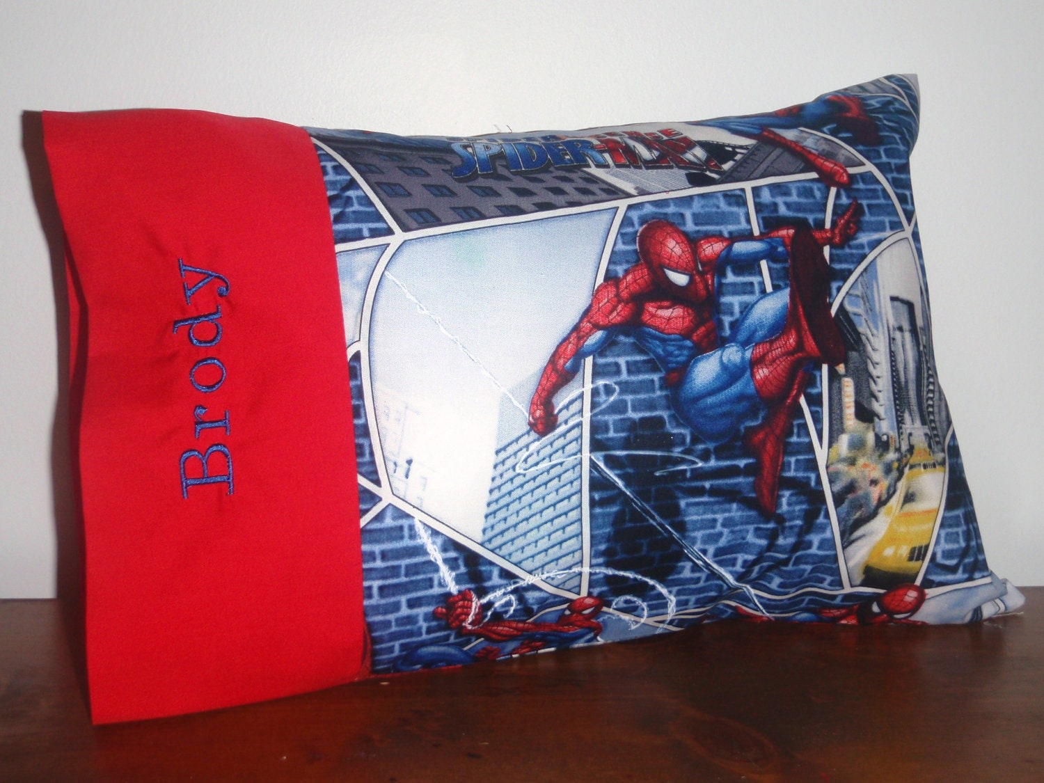 Super Hero - Spiderman, Superman, Green Lantern OR Captain America Toddler/Travel Sized Pillowcase