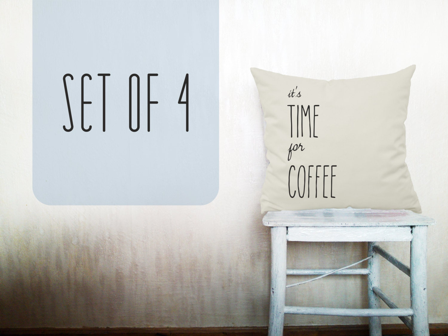 It's time for Coffee pillow Christmas decor gift Coffee pillow decorative throw pillow beige cotton sofa 12x12 inches Coffee pillow ohtteam - HomeLivingIdeas