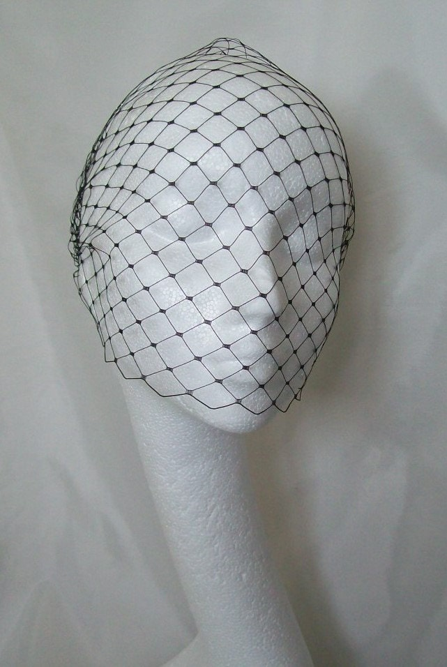 Merry Widow Birdcage Bandeau Wedding Bridal Veil Many Colours Available  Comb Attachment  Custom Made to Order