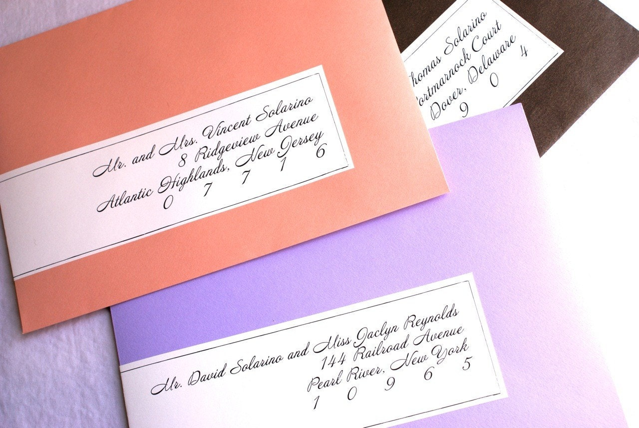 Items Similar To Calligraphy Wrap Around Labels For