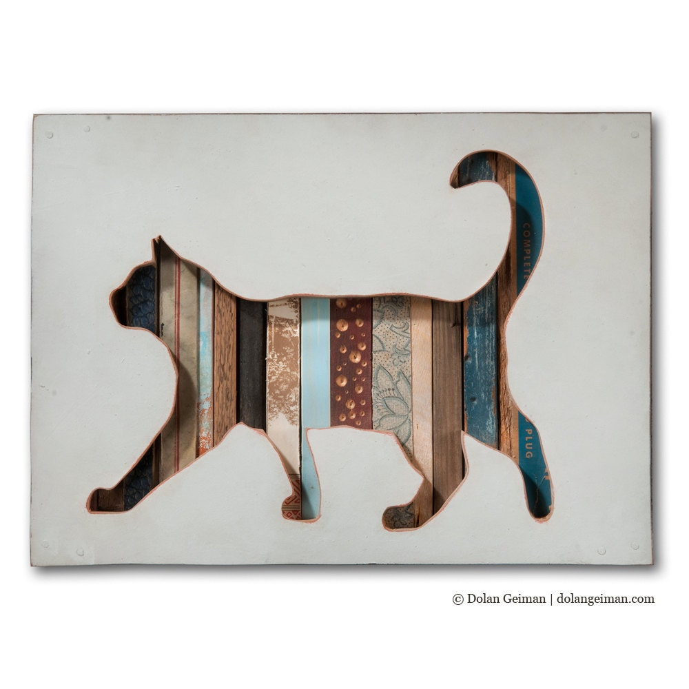 Pet Cat Portrait, Cat (Walk) Collection, Made to Order - dolangeiman