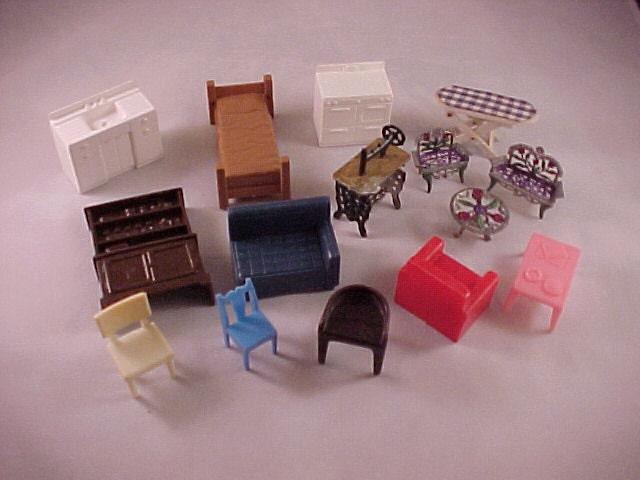 Vintage Plastic Dollhouse Furniture By Papasgoodoledays On Etsy
