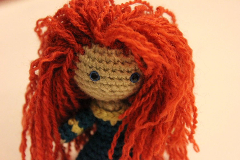 Designer Crochet Amigurumi Patterns Merida Warrior Princess : PATTERN Instant Download Merida Warrior Princess Brave by ...