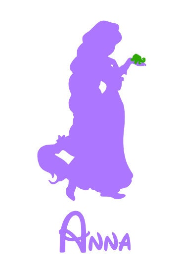 Personalized tangled rapunzel princ ess disney iron on decal vinyl for