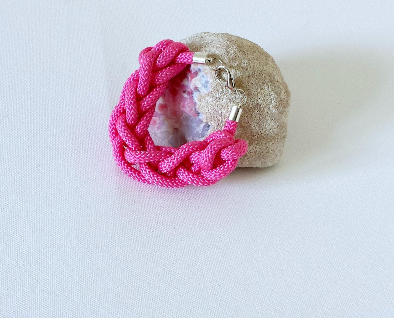 Bracelet, jewellery, rope bracelet, chunky bracelet-The Hesper Chunky Bracelet in Flamingo Pink, women accessories - ShesGUtSSY