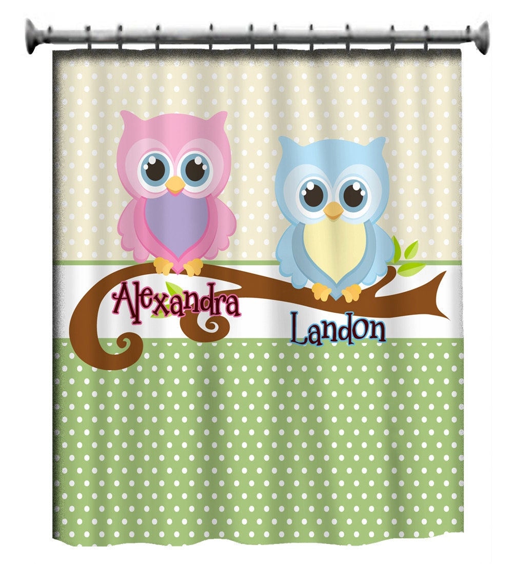 Items Similar To Personalized Shared Shower Curtains