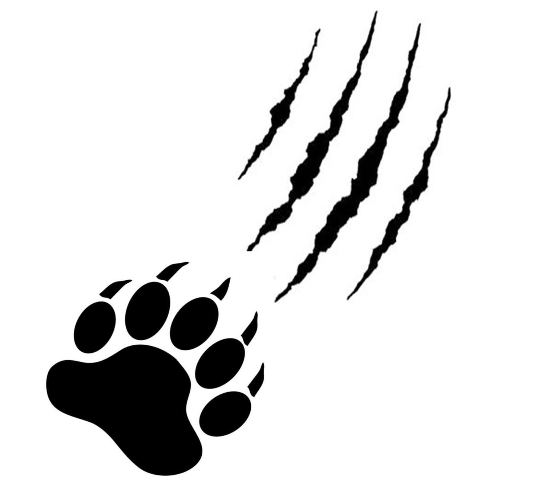 Bear claw sports logo
