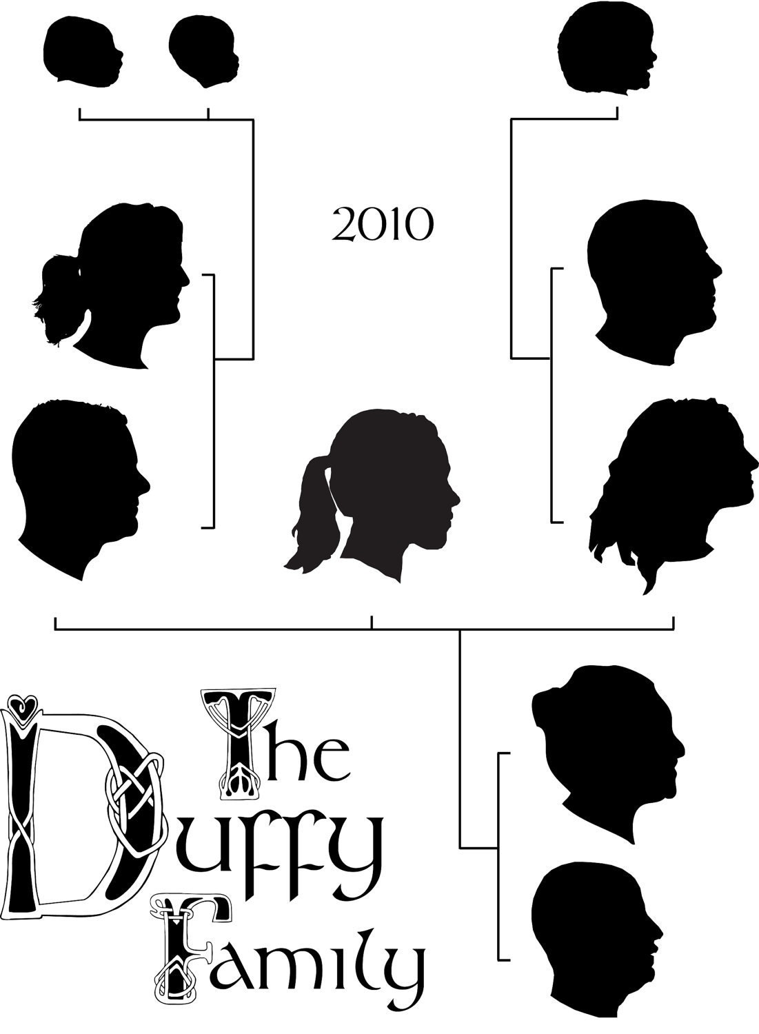 family tree silhouettes