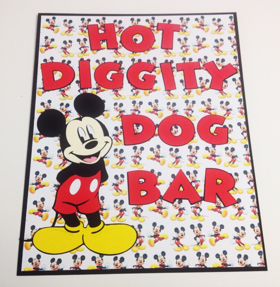 Mickey Mouse Hot Diggity Dog Stand