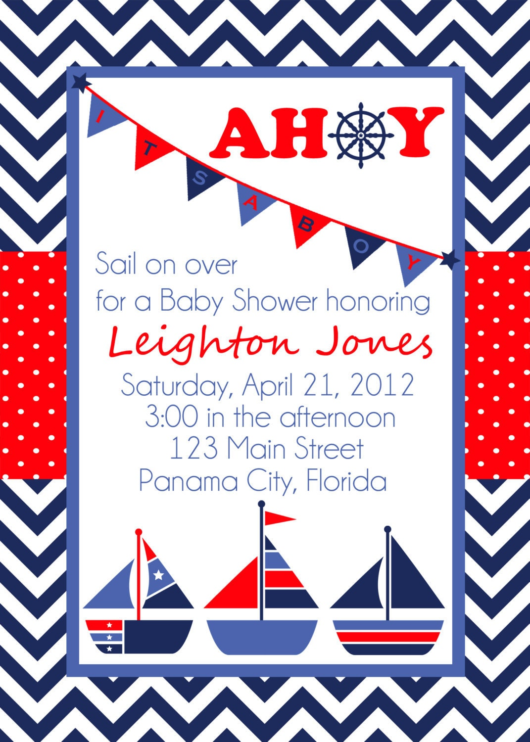 Sailor Baby Shower Invitations is best invitation template