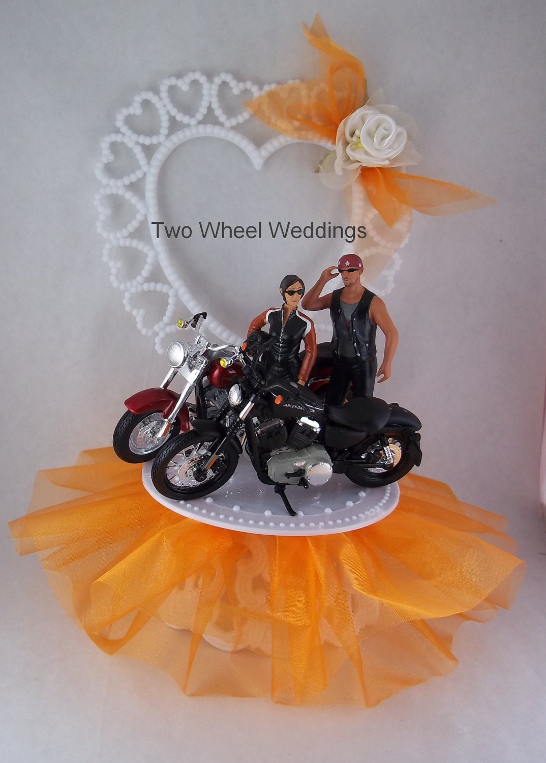Pin His N Hers Motorcycle Cake Topper Biker Wedding Customized Colors