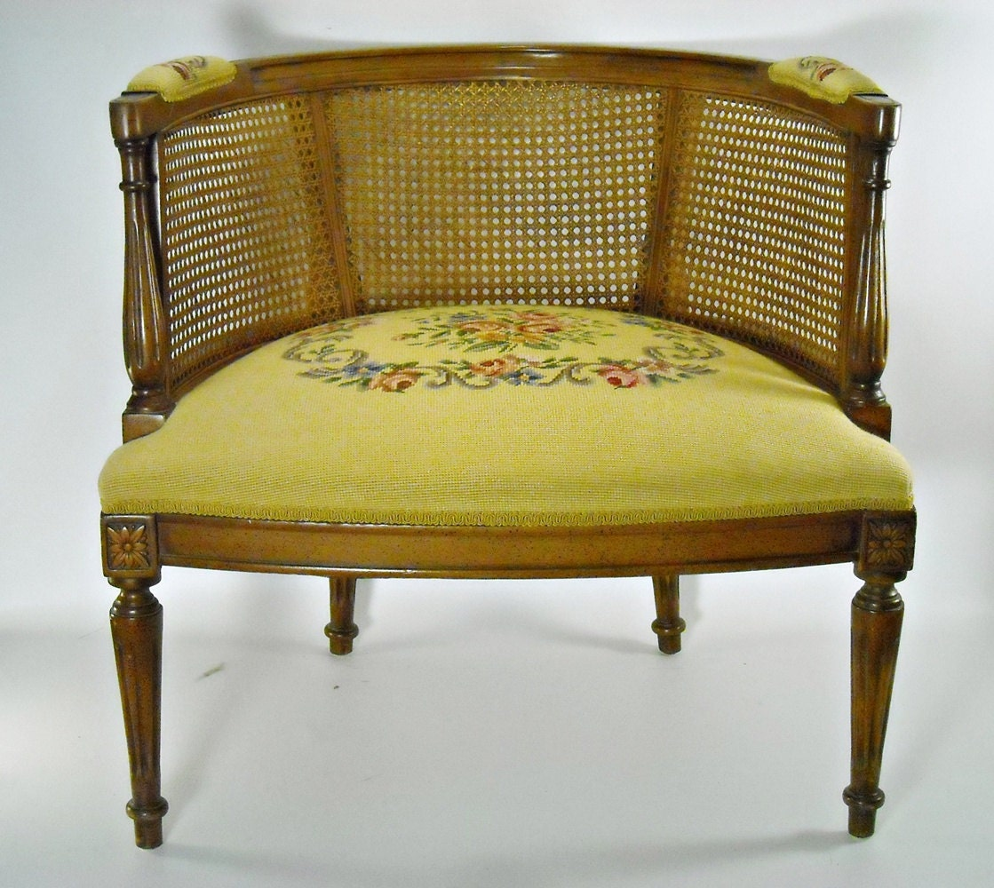 Wonderful image of RESERVED Mid Century Chair Cane Barrel Back by silverbranchhome with #684611 color and 1119x1000 pixels