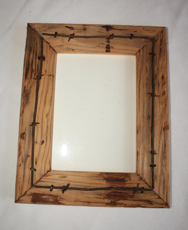 reclaimed wood picture frame 5 x 7 vintage by rockymtnvintage. Black Bedroom Furniture Sets. Home Design Ideas