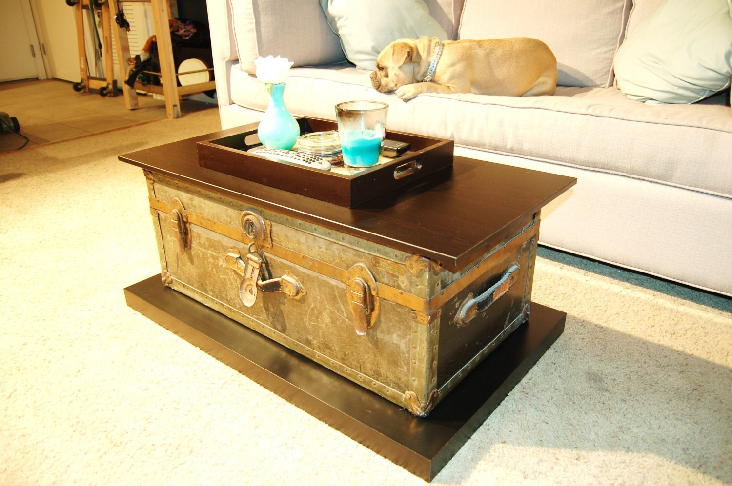 Http Www Etsy Com Listing 94199179 Vintage 1930s Trunk Coffee Table
