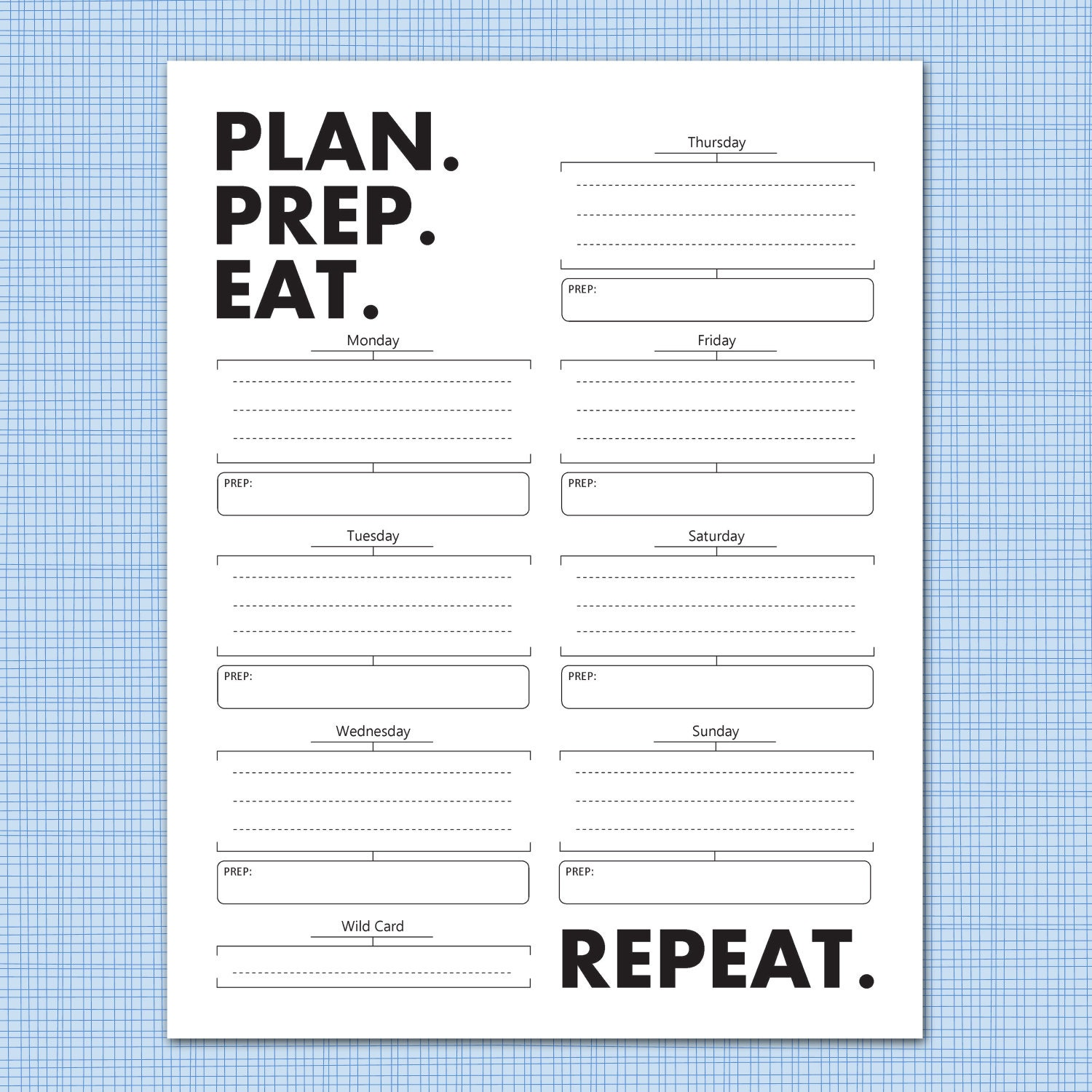 weekly meal planner download plan prep eat by microdesign. Black Bedroom Furniture Sets. Home Design Ideas