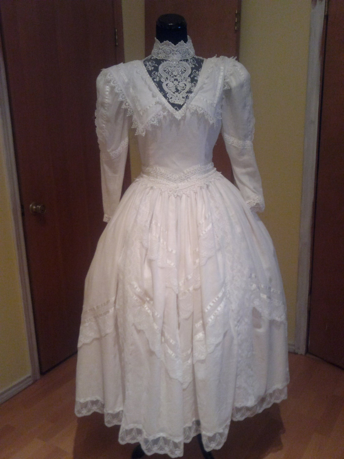 Vintage 1980s jessica mcclintock bridal by wintercarnival1930 for Jessica mcclintock wedding dresses outlet