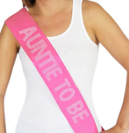 auntie to be sash baby shower sash aunt auntie new aunt