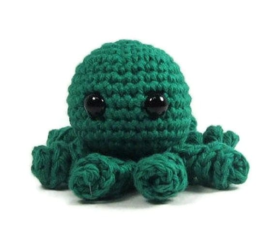 Octopus Amigurumi Plush : Items similar to Octopus Stuffed Animal - Green ...