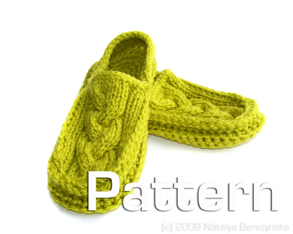 Slipper Patterns Knitting : PATTERNS KNIT SLIPPERS