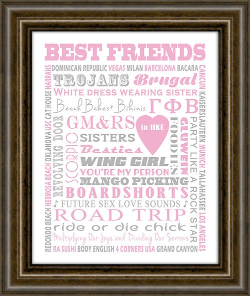 Best Friend Gift - Gifts For Her - Thank you Gift - Bridesmaid Gift ...
