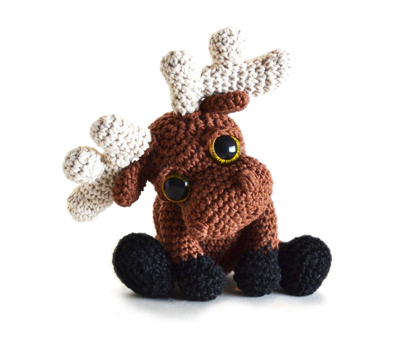 Amigurumi Moose : Moose Amigurumi Crochet Pattern PDF Instant by PatchworkMoose