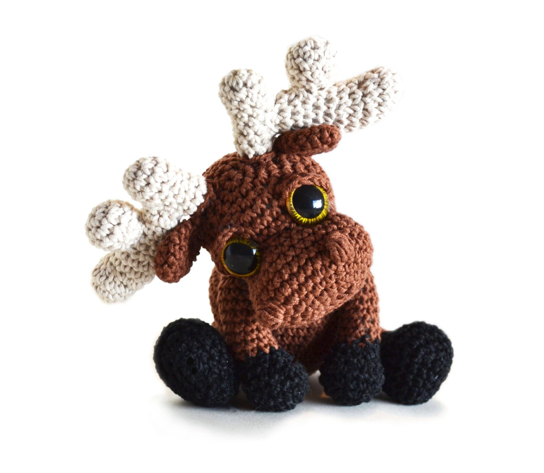 Amigurumi Moose Pattern Free : Moose Amigurumi Crochet Pattern PDF Instant by PatchworkMoose