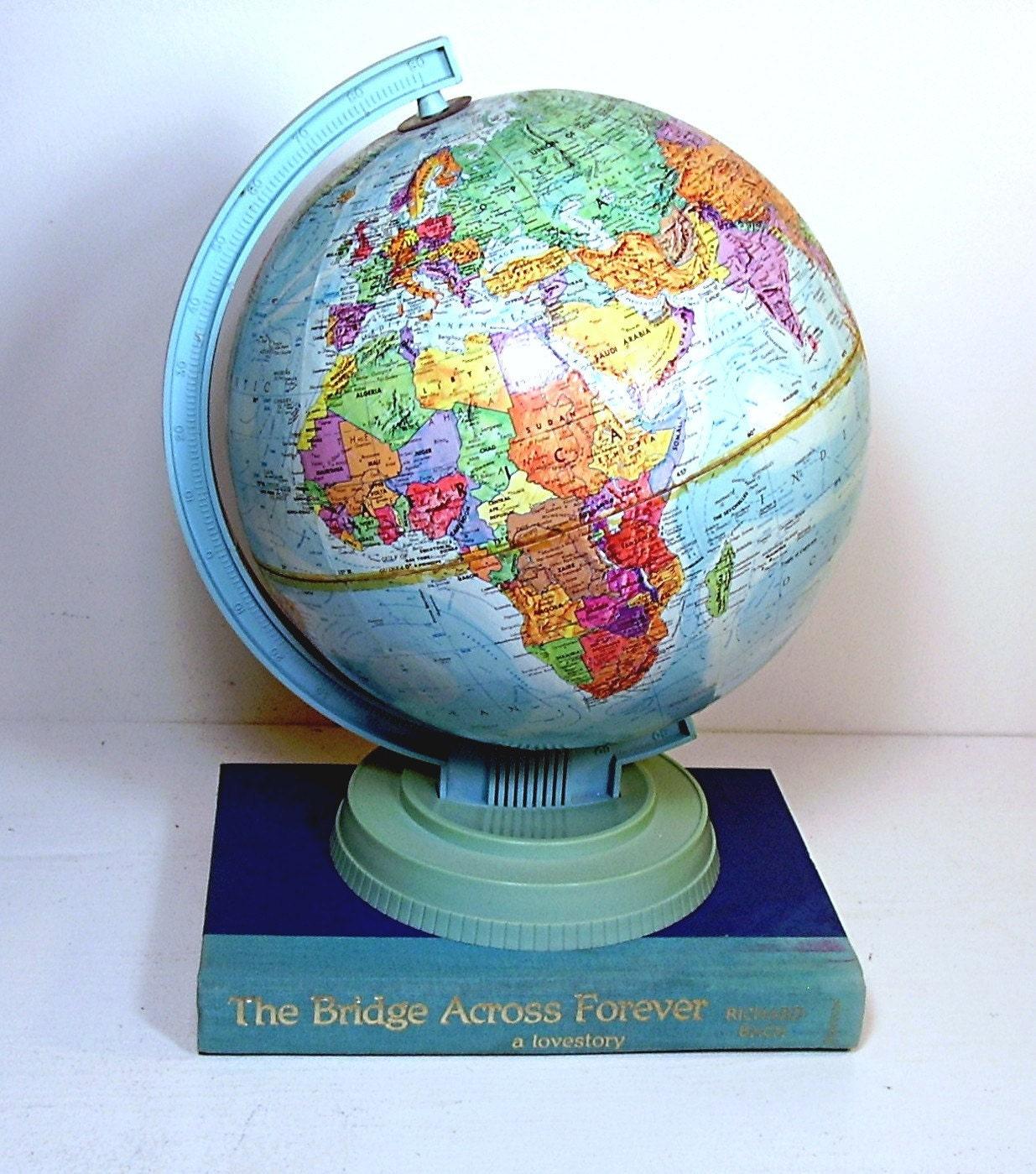 Vintage Replogle Globe Scholar Mid century World Maps
