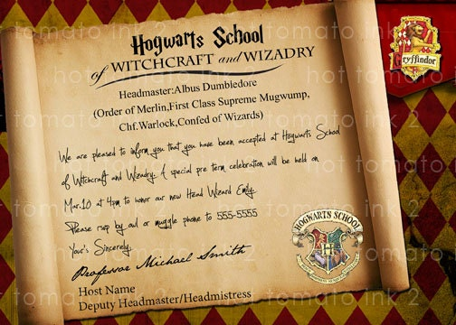Harry Potter Party Invitations is one of our best ideas you might choose for invitation design