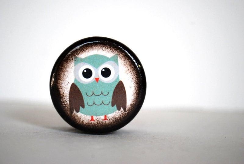 Teal Owl Pill Box - Mmim