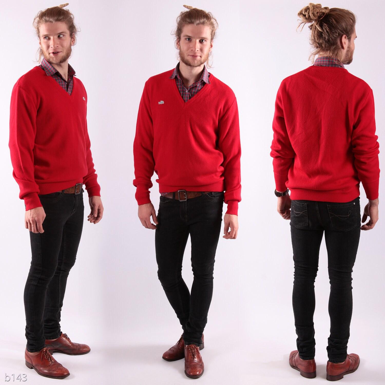 Mens Red Cardigan Sweater Vest - Gray Cardigan Sweater
