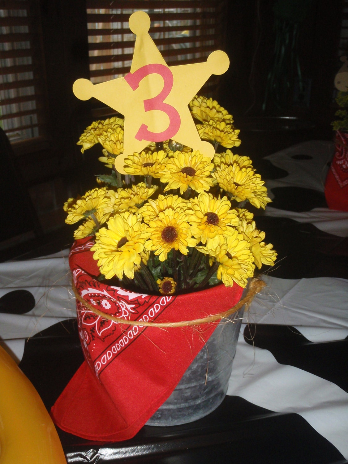 Items Similar To CowboyCowgirl Themed Party Centerpieces