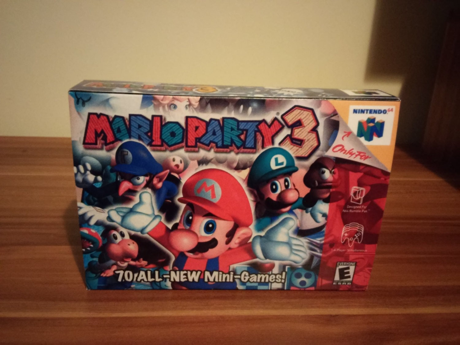 N64 Mario Party 3  Repro Box and Insert NO Game Included