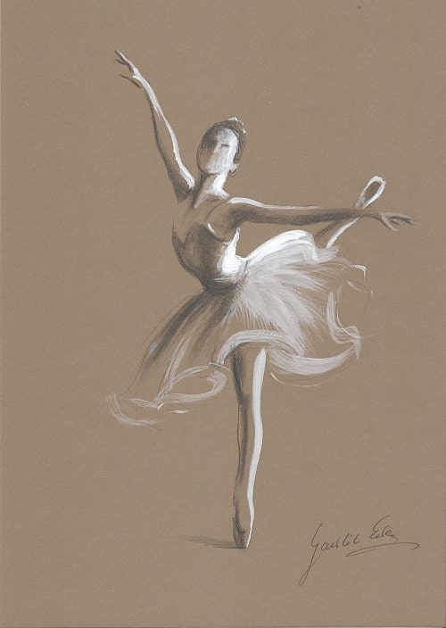ballerina pencil drawing - photo #26
