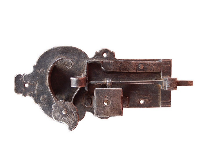 Antique wrought iron door latch a fine 18th by beyondantiques for 18th key of the door