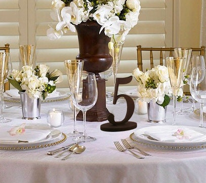 Table Numbers Custom Wedding Reception Decor for Unique and Fun Parties