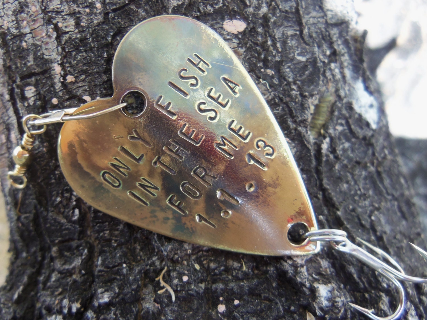 Items similar to anniversary gift for men gift for husband for Personalized fishing lures