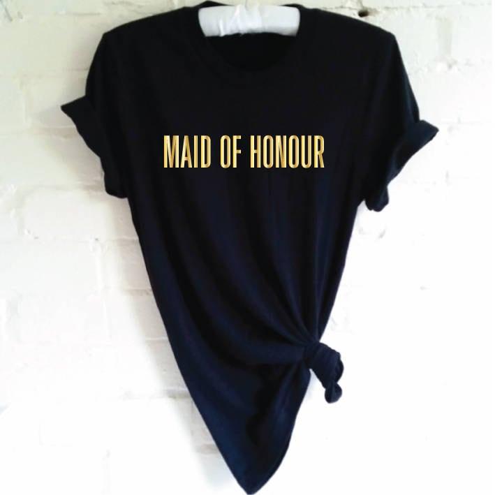 Maid Of Honour TShirt. Hen Party Shirt. Wedding Party Shirt. Bachelorette Party Shirt. Hen Shirt. Bridal Party Shirt. Bridal Shower.