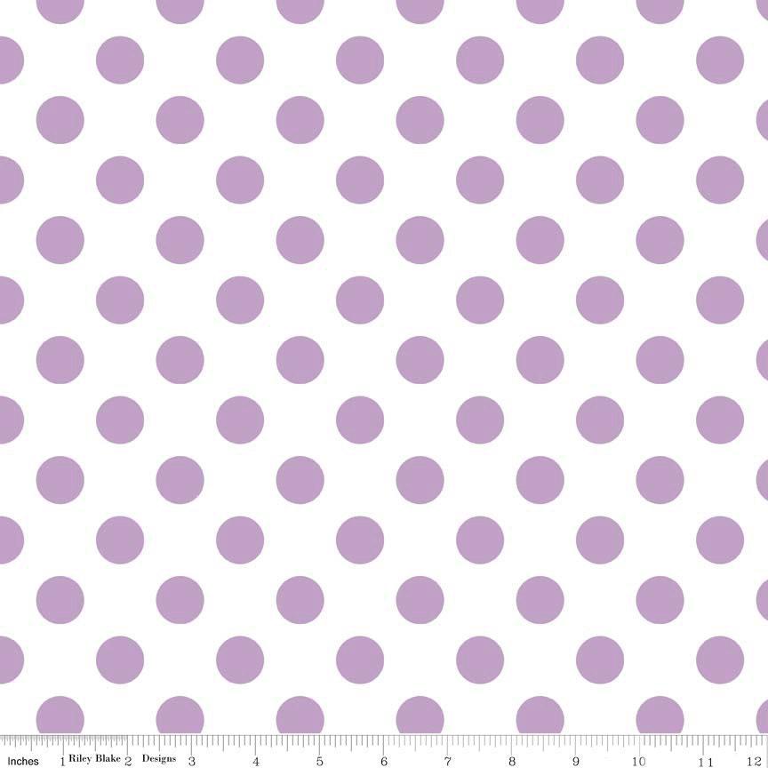 Lavender on White Dot Crib Skirt or Dust Ruffle - TigersTies