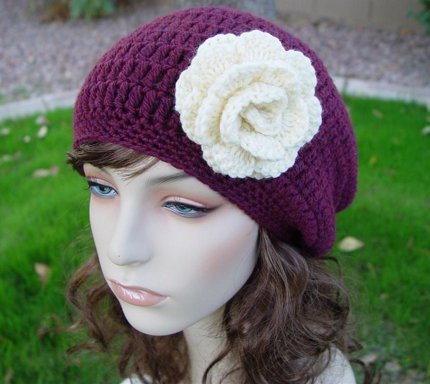 PDF Crochet Pattern Simple Slouch Beanie by UnravelMe on Etsy