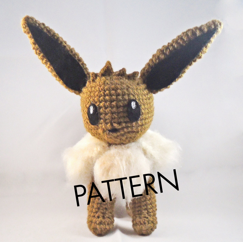 Amigurumi Crochet Pattern Etsy : PDF CROCHET PATTERN Pokemon Eevee Amigurumi by ...