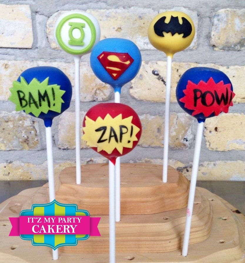Super hero cake pops