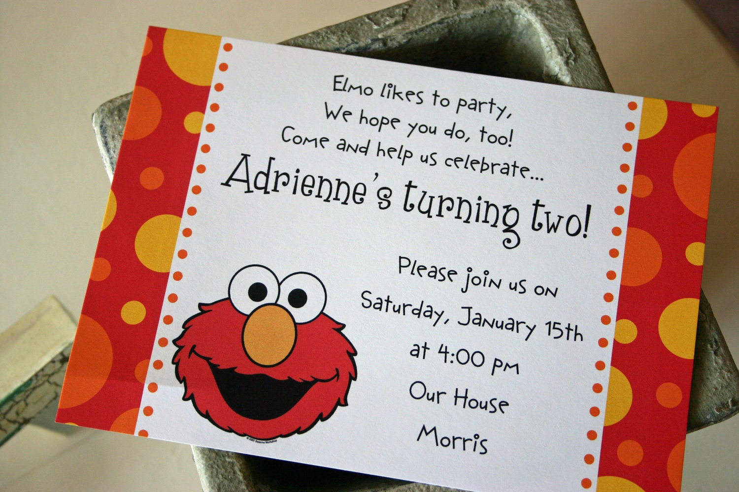 Images of Elmo Birthday Invitations Images - #CALTO