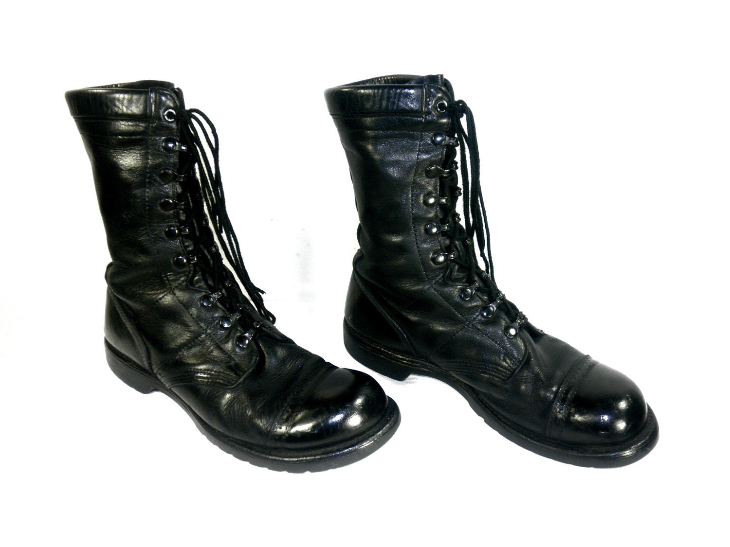 corcoran jump boots black leather lace up by desertmoss on