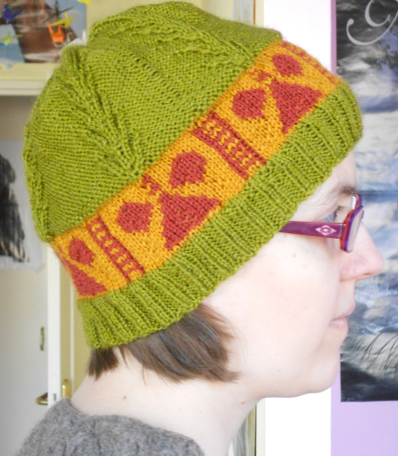 Knit Christmas hat pattern Easy beanie by CuteCreationsByLea