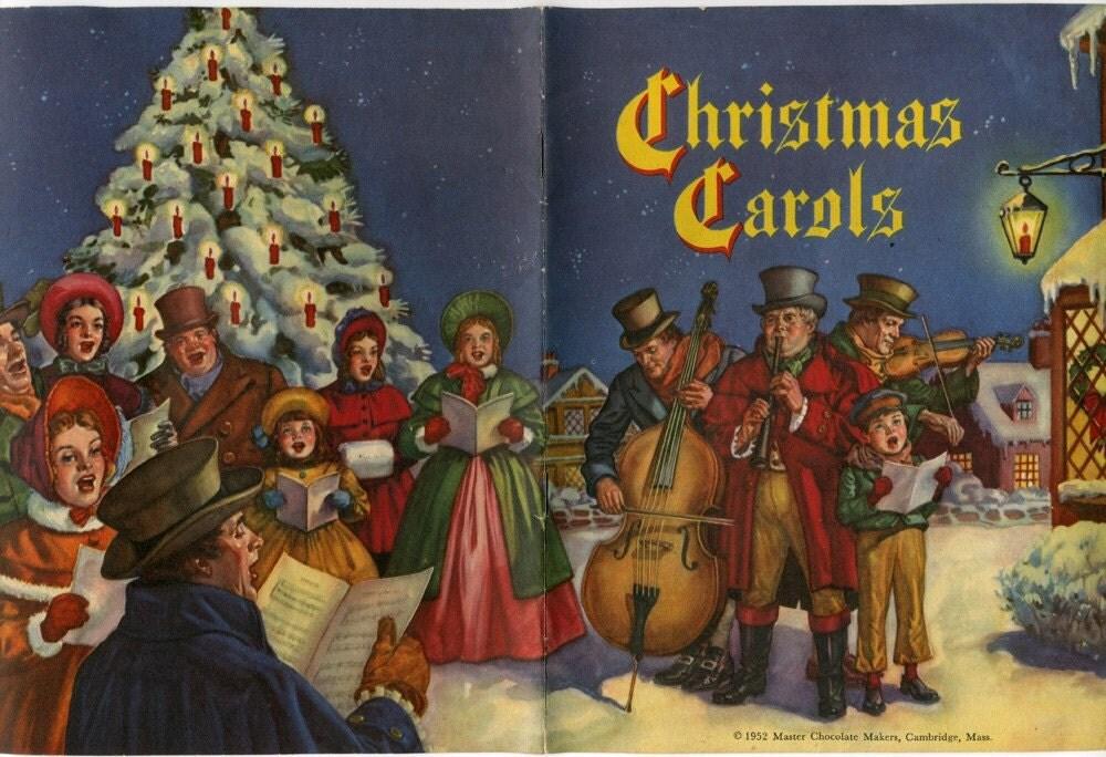 Vintage Christmas Carol Song Book Vintage Advertising by oldpaper