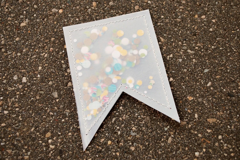 Vellum confetti pouches- Banner