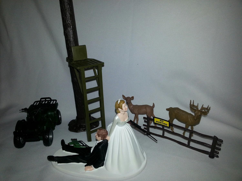 Items similar to Deer Hunting Wedding cake topper Groom s